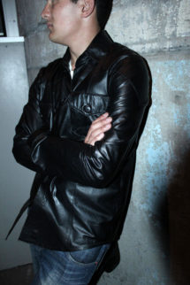Leather Shirt Style Jacket