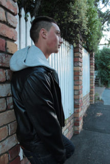 Hoody Leather Jacket