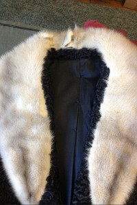 Fur coat repair (before)