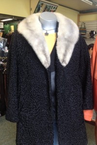Repaired fur coat